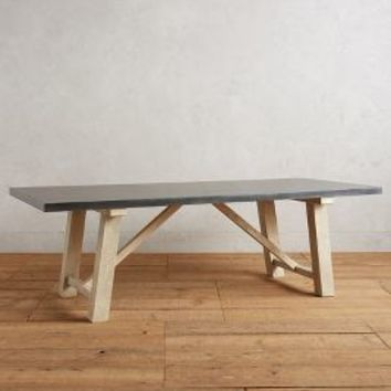 Laurier Dining Table by Anthropologie in Zinc Size:
