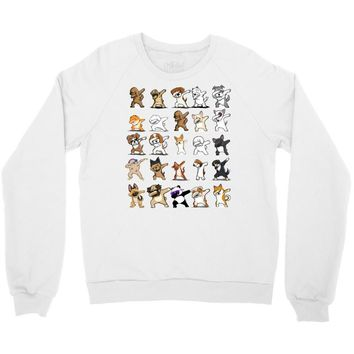 dabbing animals Crewneck Sweatshirt