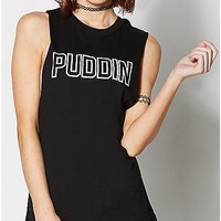 Puddin Suicide Squad Muscle Tank Top - Spencer's