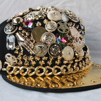 Crazy studded hat in HIP HOP / Korean K Pop style by BlackDung