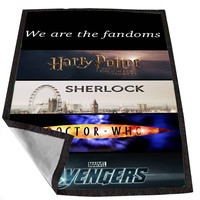 Fandoms Harry Potter Sherlock Doctor Who Avengers f3b9076f-1894-4002-b4ed-2a062b5934d7 for Kids Blanket, Fleece Blanket Cute and Awesome Blanket for your bedding, Blanket fleece *02*