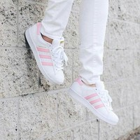CHEN1ER Adidas classic men's shoes casual shoes pink shell head