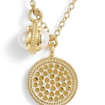 Anna Beck Double Pearl Disc Pendant Necklace | Nordstrom