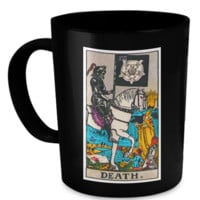 Death Tarot Card Coffee Cup Mug deathmug
