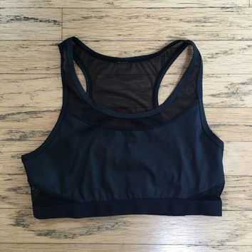 Fabletics Women's black and white athletic  Top