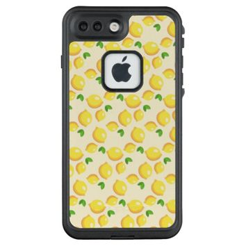 Lemon Pattern LifeProof FRE iPhone 7 Plus Case