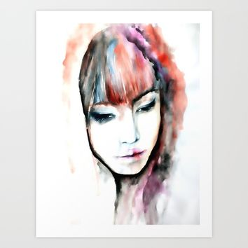 Stranger Art Print by PaintedSoul