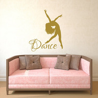 Dance Wall Decal Vinyl Sticker Decals Ballet Dancing Ballerina Acrobatics Gymnastics Wall Decal Girls Wall Decor Dance Studio Decor Art T163