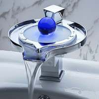 Color Changing LED Waterfall Bathroom Sink Faucet (Unique Design) - US$ 148.49