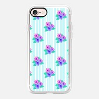 Hibiscus and Stripes iPhone 7 Case by Lisa Argyropoulos | Casetify