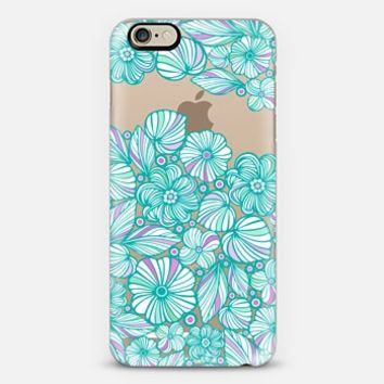 My lovely turquoise flowers iPhone 6 case by Julia Grifol Diseñadora Modas-grafica | Casetify