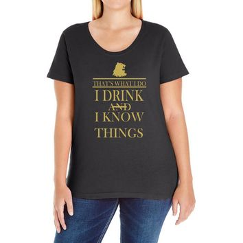 i drink Ladies Curvy T-Shirt