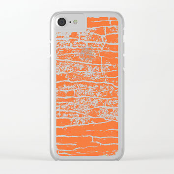 shades of orange stone Clear iPhone Case by Julius Marc