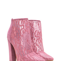 Romantic Summons Chunky Lace Booties