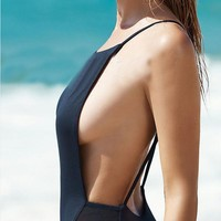 Sexy One Piece Swimwear High Cut Monokini Backless