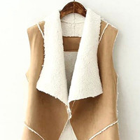 Shearling Suede Gilet