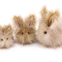 Bubbles Bunny Rabbit Stuffed Toy Plushie Animal Easter Bunny -6 x 10 Inches Large Size