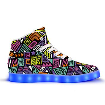 All That & A Bag of Chips - APP Controlled High Top LED Shoes