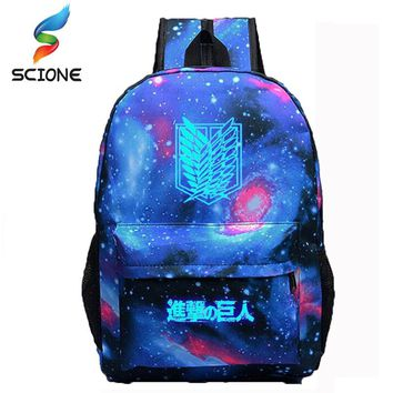 2018 Hot Selling Attack on Titan Backpack Japan Anime Printing School Bag for Teenagers Cartoon Travel Bag Nylon Free Shipping
