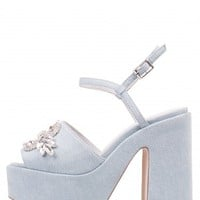Jeffrey Campbell Shoes NIKKO-JWL New Arrivals in Light Blue