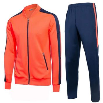 Men' zipper tracksuits men stand collar sweatshirts adult autumn winter style sportswear men trainning and exercise suits custom