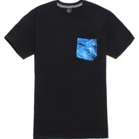 Volcom Liquid Cosmic Pocket T-Shirt - Mens Tee - Black