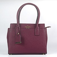 Hot Sale Kate Spade Fashion Shopping Leather Tote Handbag Shoulder Bag Color Wine Red