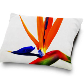 Bird of Paradise - Pet Bed, Tropical Beach Style Pet Bed Accessory Bedding Surf Floral Style Coral Fleece Pet Pillow Bed. Small Medium Large