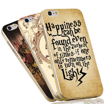Harry Potter Happiness Can Be Founded Quotes Silicon Soft TPU Phone Case Cover for Apple iPhone 7 4 4s 5 SE 5s 5c 6 6s plus