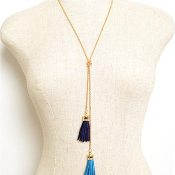 Tassel & Knot Necklace