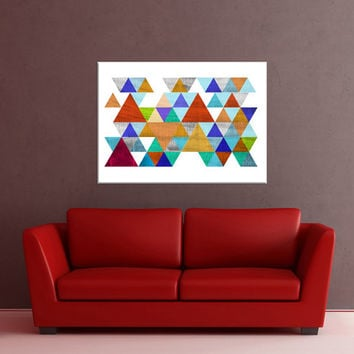 modern Mid Century Wall art canvas, Colorful canvas print, colorful wall art print, Geometric Wall art, canvas wall art No.725