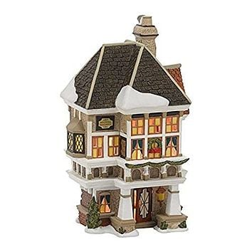 Department 56 Dickens Christmas Carol Village Nephew Fred's Home Lit House, 8.07-Inch