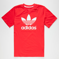 Adidas Trefoil Boys T-Shirt Red  In Sizes