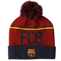 Nike Barcelona FC Knit Beanie - Red/Navy Blue