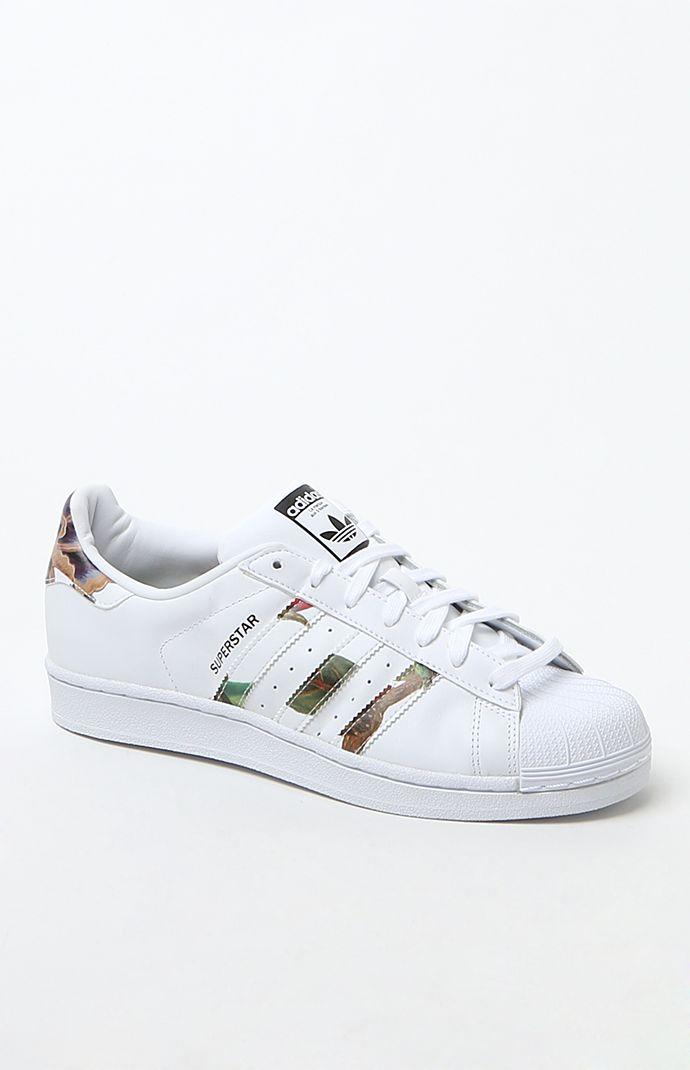 White Superstar Low-Top Sneakers - Womens from PacSun  df40927b7