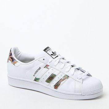 White Superstar Low-Top Sneakers - Womens Shoes - White