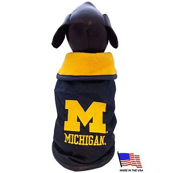 Michigan Wolverines Weather-Resistant Blanket Pet Coat