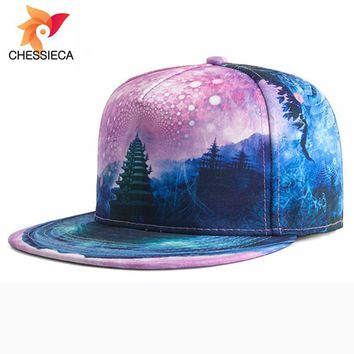 Trendy Winter Jacket Chessieca 2018 New Design Personality Space 3D Printing Male Baseball Cap Women's Summer  Hip Hop Hat Snapback Casquette AT_92_12