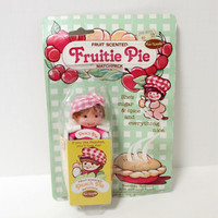 Vintage 1980s Fruit Pie Peach Scented Doll MIP Sealed Bean Bag Buddies Vinyl Head