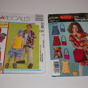 Simplicity It's so easy Ladies or Girls Dress or Easy McCall's Kids Stuff Sewing Patterns Your Choice of One