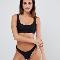 Lepel London Ribbed Cropped Bikini Top at asos.com