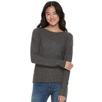 Juniors' SO Cross-Back Crewneck Sweater