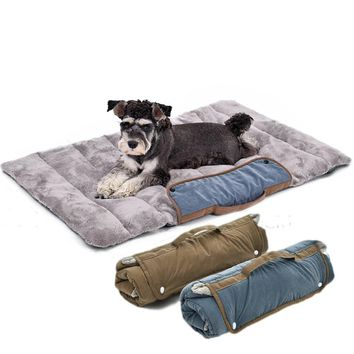 Foldable Dogs Pets Mat forTravel Cat Dog Bed Puppy Soft Cushion For Animals Dog Cat Pet Easy And Convenient to Take Storage