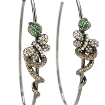 Wendy Yue Diamond Butterfly Hoop Earrings