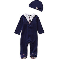Wendy Bellissimo 3-9 Months Faux Tie Footed Coverall & Hat Set | Dillards.com