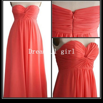 Big discount Homecoming dresses sweetheart sleeveless floor-length chiffon summer prom dresses