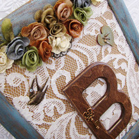 Rustic Chic Wedding Decoration Monogram Wall Letter Picture Frame Customizable Gift Wedding Decor