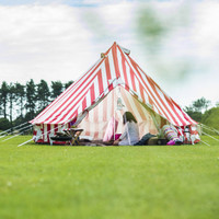 Strawberries and Cream Bell Tent