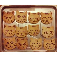 Cat face Shape baking Cookie Mold Cakestainless steel Frame DIY Cooking Metal Cutter kitchen accessories Z5221