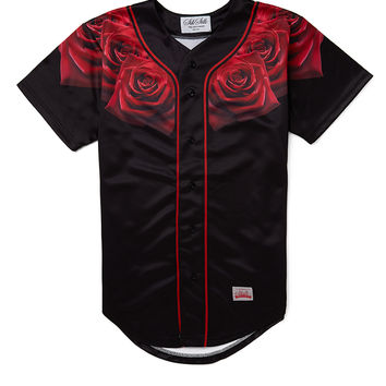 SikSilk Red Rose Baseball Jersey